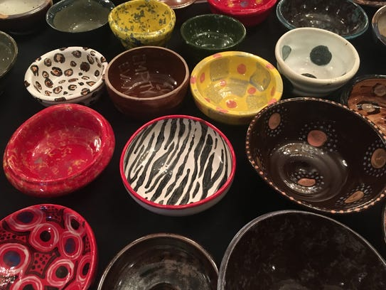 The bowls available for purchase at the 2017 Empty