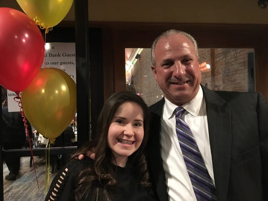 Kaitlin Clutter with Patrizio's owner Lou Maschi during