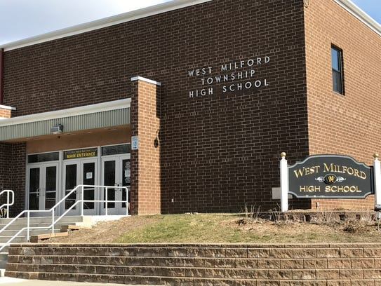 West Milford High School's main entrance as seen on