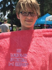Bulldog Aquatic Club's Adam Wiedemeier won high point