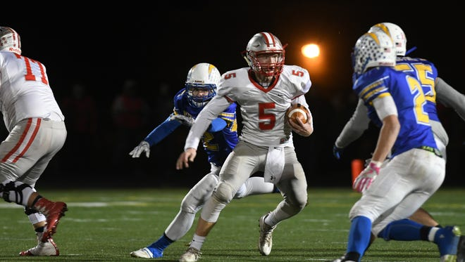 Brennan Armstrong owns all of the passing records at Shelby, entering his senior year with 5,451 yards and 53 touchdowns through the air and another 2,680 yards and 43 TDs on the ground.