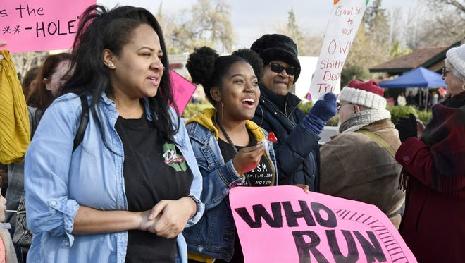 Hundreds of Central Valley residents came together for the 2018 Women's March Visalia on Saturday morning. Protesters marched down Mooney Boulevard before listening to speakers outside of College of the Sequoias.