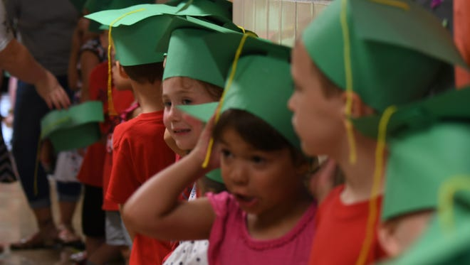 June 22, 2018Children graduate from the Mansfield Police Safety Town class Friday morning at the Spanish Immersion School.
