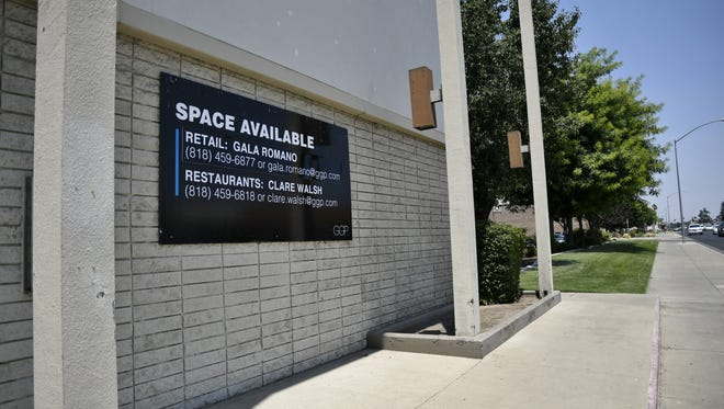 A vacant building next to the Visalia Mall on the corner of Mooney Boulevard and Beech Avenue.