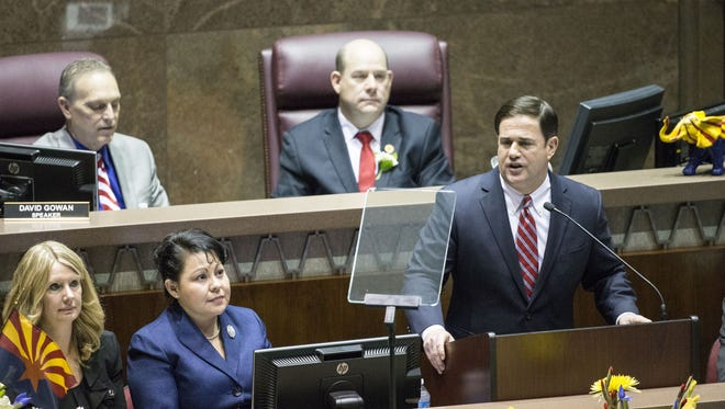 Gov. Doug Ducey took jabs at cities in his State of the State address, setting the tone for the rest of the legislative session.