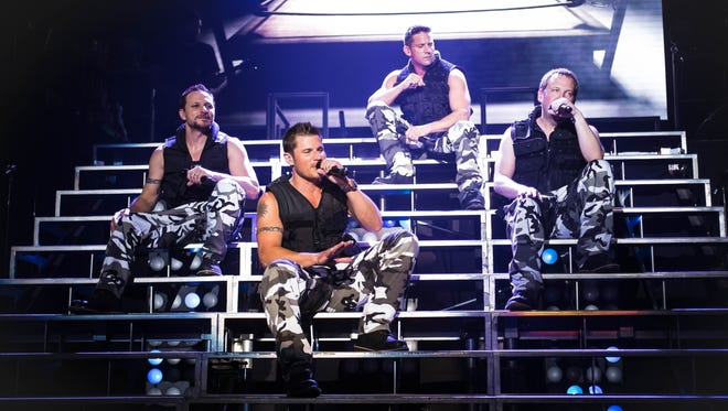 98 Degrees performs on the opening night of the 'My2K' tour.