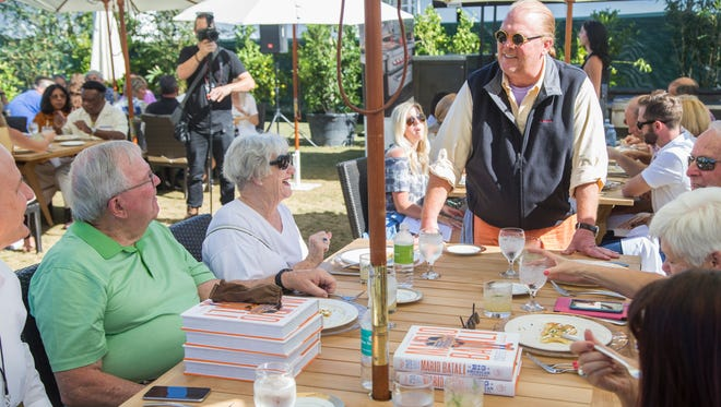 Chef Mario Batali talks pierogis and their history with guests at the azcentral.com Food and Wine Experience on November 5, 2016 at Salt River Fields at Talking Stick.