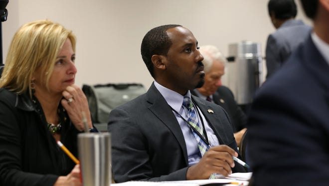 Loranne Ausley, Florida House District 9 Representative and Ramon Alexander, Representative of District 8, attend their orientation at the Capitol Building on Tuesday, Nov. 15, 2016.