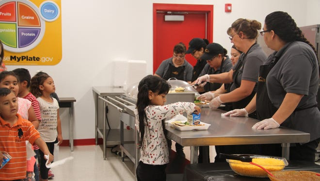 Loving Elementary School opened its first kitchen in the school on Tuesday. The kitchen, constructed by FacilityBUILD in Albuquerque, is used as a serving for the students.  Elementary kids previously walked to the high school to eat lunch.