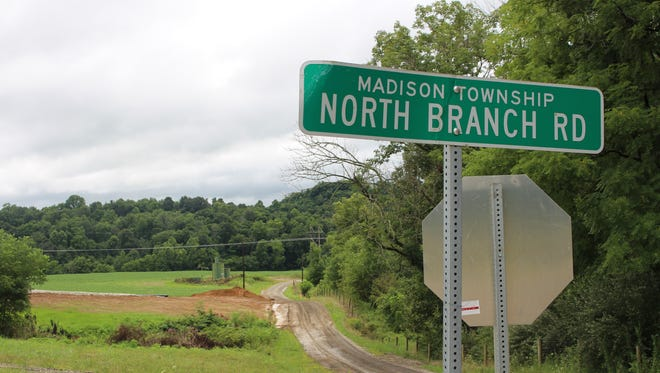 Construction on a less-steep end to North Branch Road is scheduled to be completed before school starts later this month..