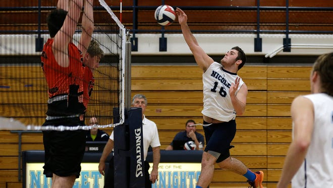 Senior Sean Shtivelberg presents a strong presence for Nicolet.