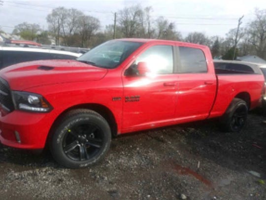 Early Friday, May 4, 2018, police found one of eight stolen 2018 Ram trucks at 1684 Auto Drive in Detroit.
