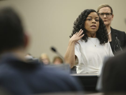 Tiffany Thomas Lopez complained to MSU trainers Destiny Teachnor-Hauk and Lianna Hadden about her treatments from Larry Nassar.