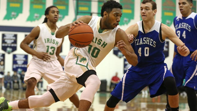 Cathedral's Eron Gordon moves to the basket against Franklin Central at Cathedral Saturday January 31, 2014.