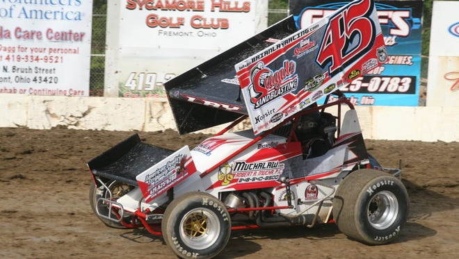 Genoa's Brian Lay earned a victory Saturday at Fremont Speedway.