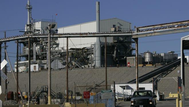 A tank farm containing radioactive material at the Savannah River Site in South Carolina.