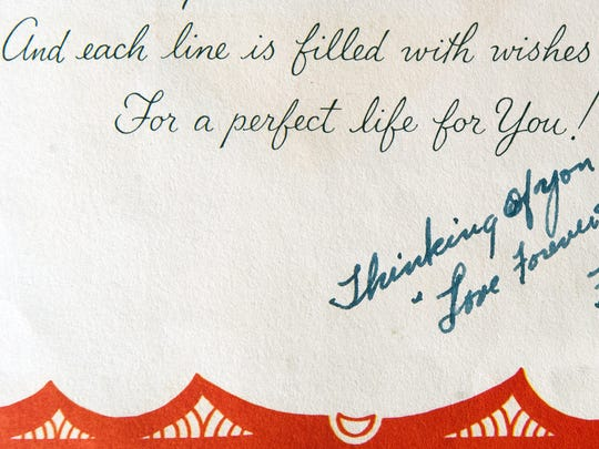 A love letter sent in 1955 by Morgan Ilgenfritz to his wife, Joyce.
