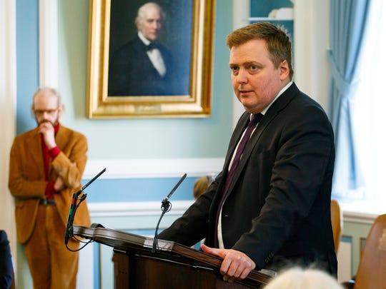 Iceland's former Prime Minister Sigmundur David Gunnlaugsson.
