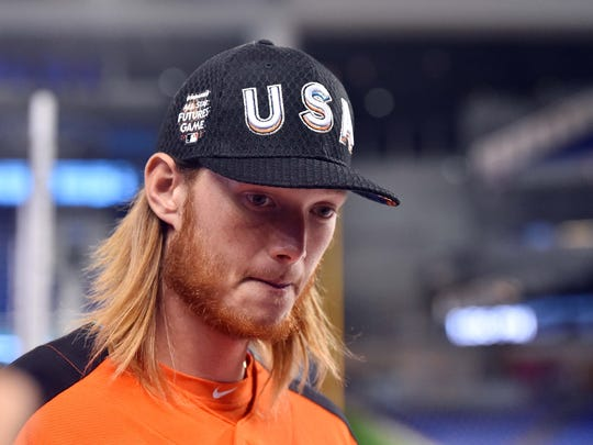 Iowa native A.J. Puk could be making a trip to his home state this summer.