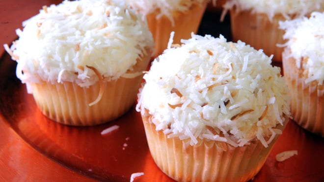 Coconut cake cupcakes are among the offerings at The Cupcake Collection, which was voted best bakery this year.