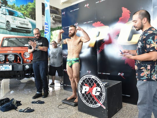 The PXC 50 weigh-ins took place at Cars Plus in Maite on Dec. 3.
