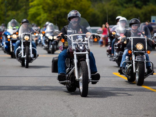 Around 500 motorcycles rode into Delaware Park Picnic Grove to participate in the Heroes End of Watch Memorial Ride Sunday.