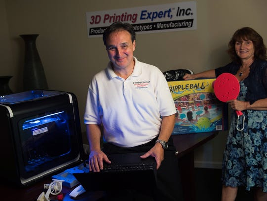 Anthony DiChiara, left, and 3D Printing & Rapid Prototyping
