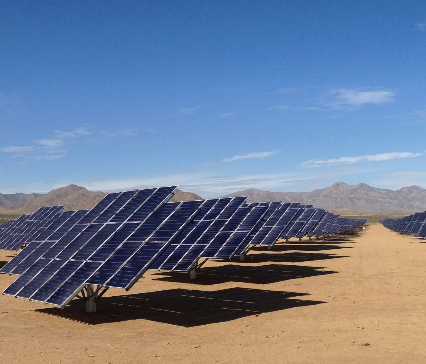 This undated photo from the U.S. Army shows the Army's solar array at White Sands, N.M. Officials with the U.S. Army gathered Wednesday, Jan. 16, 2013 at White Sands Missile Range in southern New Mexico to dedicate the largest of the military branchí