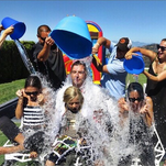 Nicole Richie shared this photo of her and friends Gavin Rossdale, Gwen Stefani and Jessica Alba completing the ALS Ice Bucket Challenge.