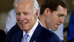 Vice President Joe Biden during a rally at the Carpenter's