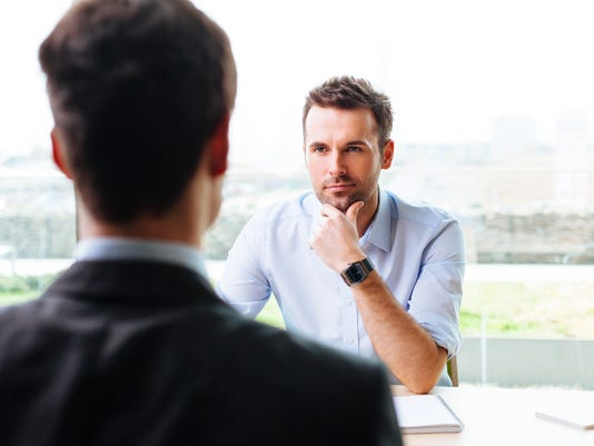 Manager and a candidate in a job interview
