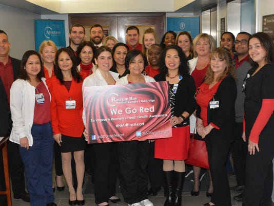 Heartbeats: Raritan Bay Medical Center Goes Red for Women PHOTO CAPTION