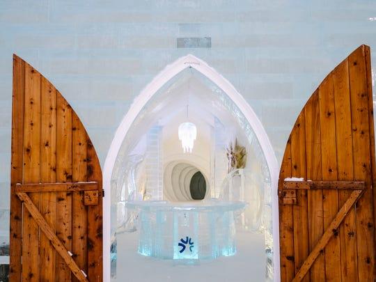 Step inside Hotel de Glace, Quebec's ice hotel.