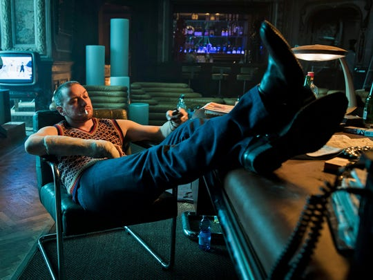 """This image released by Focus Features shows James McAvoy in """"Atomic Blonde."""""""