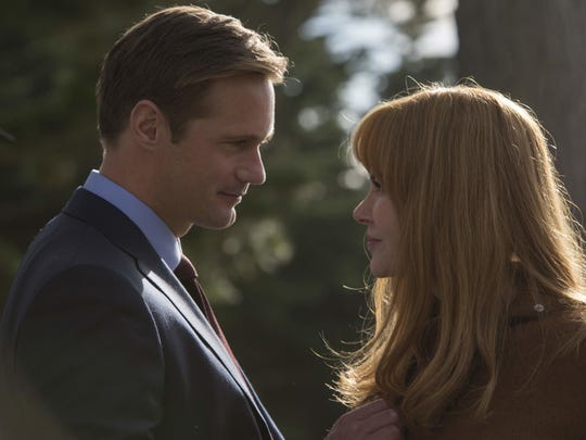Perry (Alexander Skarsgard) and Celeste (Nicole Kidman) are buffeted by the internal complexities of their idyllic-looking marriage in HBO's 'Big Little Lies.'
