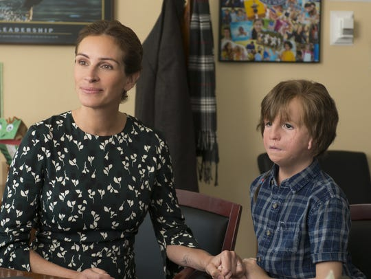 "Julia Roberts and Jacob Tremblay in ""Wonder."""