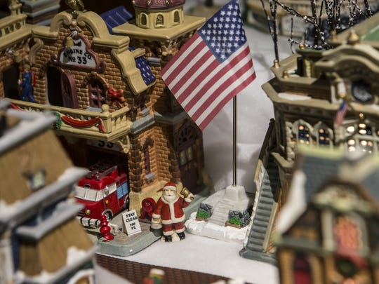 Miniature villages are on display as part of the Deck the Halls exhibit at the Oshkosh Public Museum in this photo from 2014.