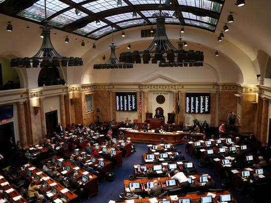 A general view of the House of Representatives during the General Assembly at the Kentucky State Capitol in Frankfort, Ky., on Wednesday, January 24, 2018.