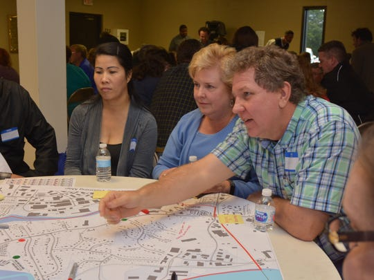 Donelson residents Jack and Sandra Payne discuss plans