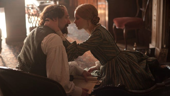 Ralph Fiennes plays Charles Dickens and Felicity Jones stars as Nelly Ternan in 'The Invisible Woman