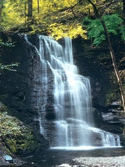 Known as the Niagara of Pennsylvania, Bushkill Falls