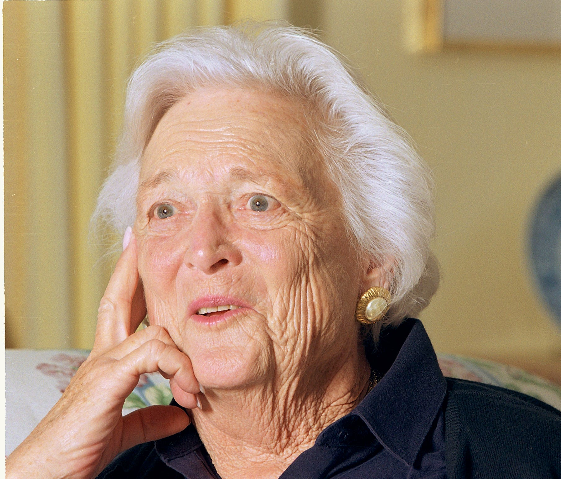 Former First Lady Barbara Bush during an interview at her Houston home on Nov. 29, 1999.