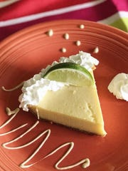 For his homemade key lime pie, El Pollo Rico chef-owner Michael Miceli uses key limes grown on Pine Island.