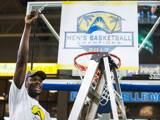 Demetris Morant is one of two seniors on last year's ASUN champion FGCU team, which gathered Monday.