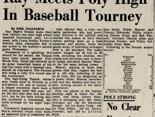 Ray opened in 1950 and made its first state baseball