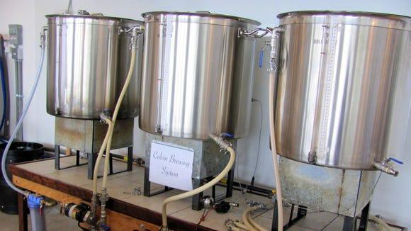 Tom's brewing system.
