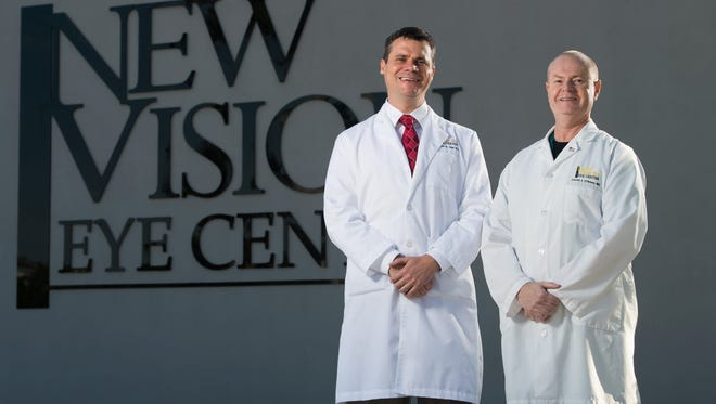 Dr. Stephen M. Tate (left), and Dr. David J. O'Brien at New Vision Eye Center in Vero Beach.