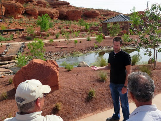 Mark Goble, a landscape architect with the City of St. George, led a tour Wednesday of the newly-opened Red Hills Desert Garden, a new interpretive park and conservation garden along Red Hills Parkway above the central part of St. George.