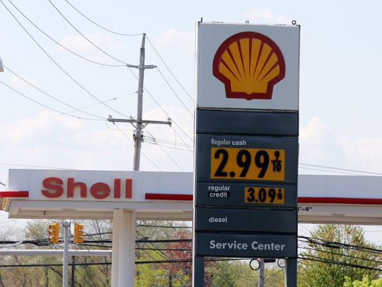 Central Jersey motorists are seeing gas prices near $3 a gallon for the first time since 2014.