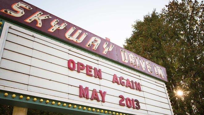Skyway Drive-In Theater in Fish Creek